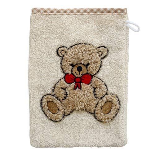 Wörner Gant de toilette gant de toilette bébé, beige ourson