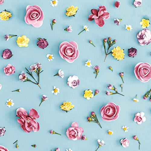 20 Cocktail Servietten Kleine Blüten auf blau Blumenwiese 25 cm