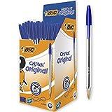 BIC Cristal Original - Caja de 50 unidades, bolígrafos...