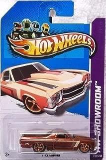 Mattel Hot Wheels Super Treasure Hunt - '71 El Camino (Spectraflame Bronze w/Tan, Brown Stripes), Rubber Tires - HW Showroom 2013 - 233/250 [Scale 1:64]