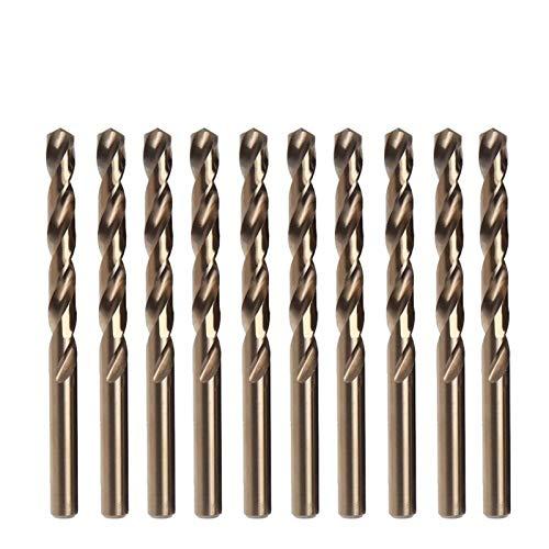 ESUHUANG Cobalt Drill Bits Set 1-13mm M35 for Stainless Steel Copper, Aluminum, Zinc Alloy HSSCo Twist Drill Bit Power Tools Industrial drill retail (Size : 4mm(10pcs))