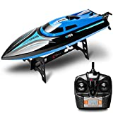 Petsite 2.4G RC Boat High Speed Racing Boat, 30 Km/H Radio Control Boat Toys for Adults & Kids, Remote Control 4CH Rechargeable Racing Boat