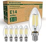 BIGHOUSE E14 LED Lampe, Kerzenform, 6 Stück