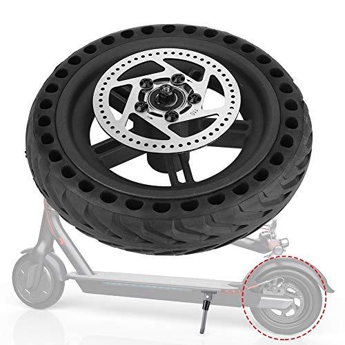 Rueda Trasera de Los Neumáticos - Trasero Neumático de La Rueda del Neumático Hub Set Piezas de Recambio Compatibles con Xiaomi Mijia M365 Scooter Eléctrico