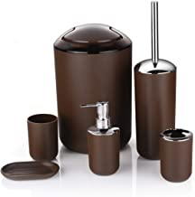 Bathroom Accessories Set 6 Piece Bath Ensemble Includes Soap Dispenser, Toothbrush Holder, Tumbler, Soap Dish for Decorati...