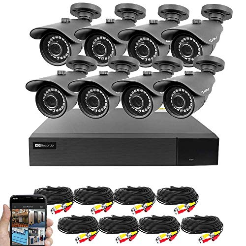 Best Vision 16CH 4-in-1 HD DVR Security Camera System (1TB HDD), 8pcs 2MP High Definition Outdoor...