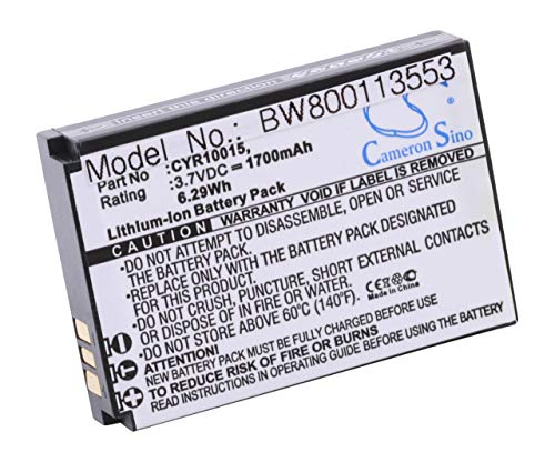 vhbw Li-Ion Akku 1700mAh (3.7V) für Handy Smartphone Telefon Cyrus CM15 wie CYR10015, Hammer, HE-129382, SGP-WiFi-BAT.