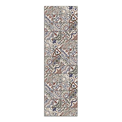 Alfombra Vinílica Cocina Baldosas, 200 x 60 x 0.22 cm, Alfombra de Vinilo Antideslizante y Lavable, ALV-133-200060