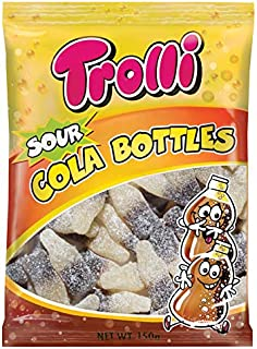 Trolli Cola Bottles Sour Candy, 10 x 150 Grams
