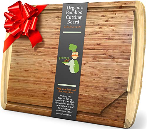 XXXL Extra Large Bamboo Cutting Board – 30 x 20 Inch Lightweight Organic Wood Butcher Block Boards with Handles, Juice Groove & Pour Spout - Largest Ever Wooden Carving Board for Meat, Vegetables, BBQ