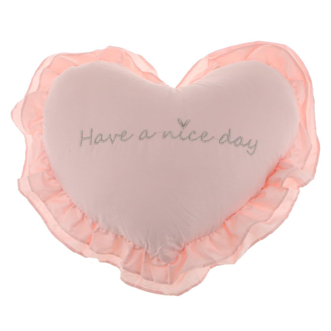 スパークに導入するSunniMix 柔らかい 枕 ハート型 取り外し可能 洗濯可能 快適 抱き枕 クッション 部屋 装飾 素晴らしい 贈り物 多色選べる - ピンク