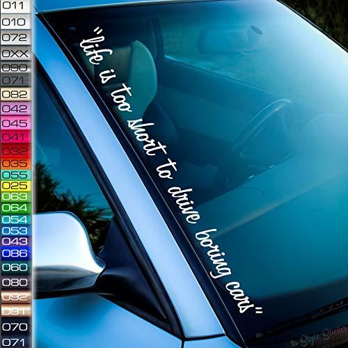 Life Short Frontscheiben-Aufkleber Tuning Aufkleber Drive Cars Dapper Stance Low Auto-Sticker