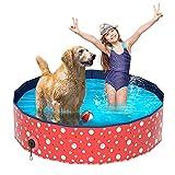 Plegable Bañera Mascotas, Luckits Portátil Piscina para Perros Resistente a rayones Mascotas...