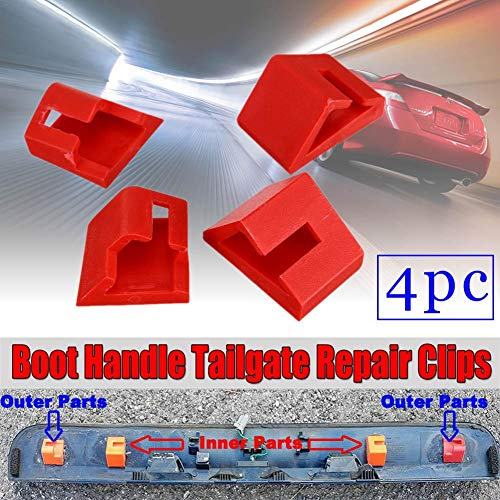 Hemicala Stangenklemme für Nissan Qashqai Koffergriff Heckklappen-Reparaturclips Ersatz-Set außen äußerer Türgriff Heckklappengriff Rod Retainer Clips