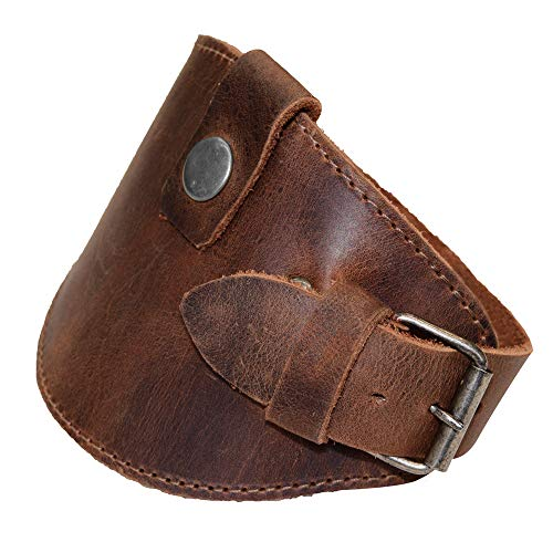 Hide & Drink, Motorcycle Boot Leather Protector/Shifter/Biker Gear/Shoe Cover/Guard, Handmade :: Bourbon Brown