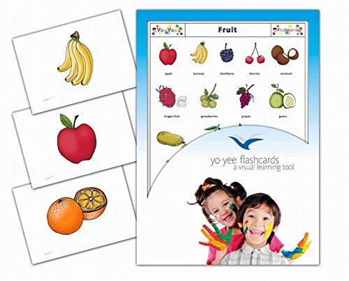 Yo-Yee Flashcards Bildkarten für den Englischunterricht - Obst - Erweitere spielerisch Grundwortschatz, Satzbau und Grammatik - Inklusive Spielideen und Einsatzmöglichkeiten