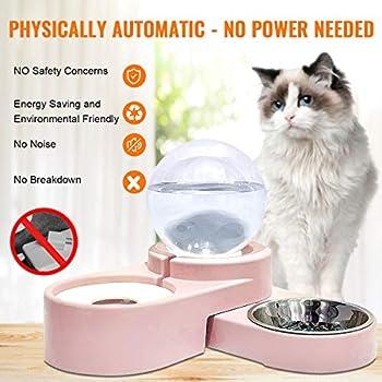 maohegou Fontaine à eau pour chat 1,8 l Distributeur d'eau automatique pour chien Distributeur d'eau pour chat Rose