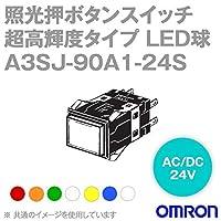 オムロン(OMRON) A3SJ-90A1-24SA 形A3S 照光押ボタンスイッチ 超高輝度タイプ (角胴形) (青) NN
