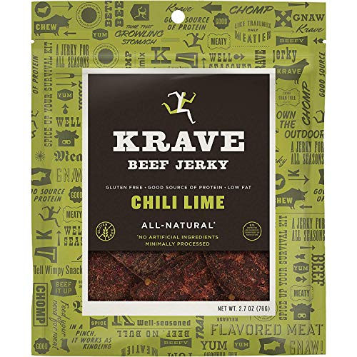 KRAVE Jerky Gourmet Beef Cuts, Chil…