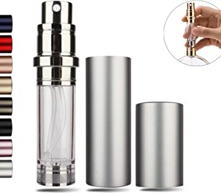 Perfume Bottles Refillable Empty Atomizers Portable Travel Size Mini Leaking Proof Spray Perfume Container for Women & Men (Silver)