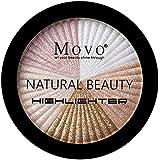 Highlighter Powder Makeup Palette – 5 Shades Lasting Shimmer Powder Face Illuminator Highlighter, Glow Bronzer Powder Waterproof Baked and Light Face Contour Highlight Palette, Cruelty Free (Light)