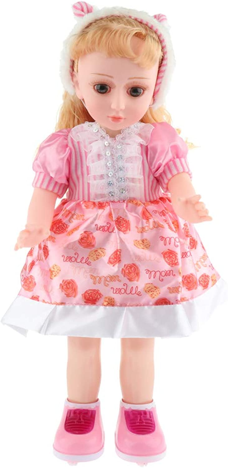 DYNWAVE Simulation Fashion Doll Girls for Girls Age 3 and Up Singing Repeat What You Say - E