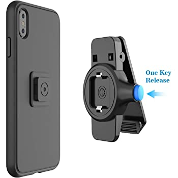 SPORTLINK Phone Belt Clips, Universal Phone Holder with Easy Mount, Quick On/Off for iPhone 12/SE 2020/11/11 Pro/11 Pro Max/X/XS/XS Max/XR, Samsung Galaxy Note 8,S8 Edge and Any Smartphones