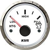 Depósito de Kus Medidor de nivel Indicador 0-190ohm 12V/24V 52mm (2') con retroiluminación (