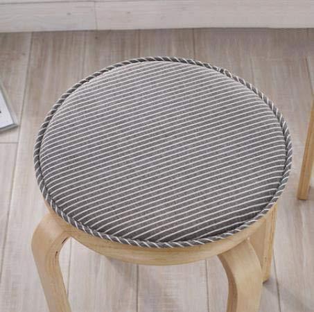 DAGCOT Silla de oficina del amortiguador de asiento Confort Silla de ratón con los lazos, Ronda Silla de comedor Cojines, no del resbalón cojín de asiento transpirable for la cocina Patio jardín Hogar