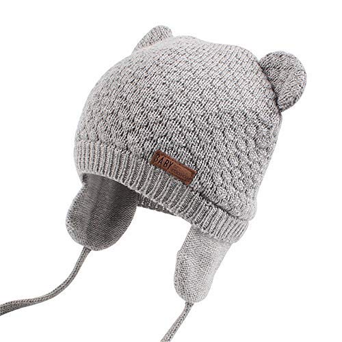 642ce9d7bf5 XIAOHAWANG Baby Hat Cute Bear Toddler Earflap Beanie Warm for Fall Winter