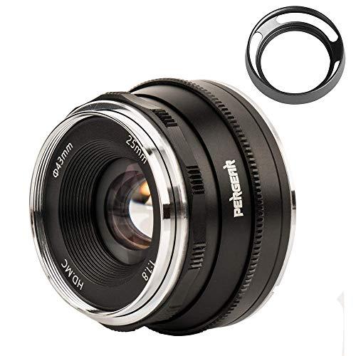 Pergear 25mm F1.8 Objektiv für Sony E-Mount Kameras NEX-3 NEX-5 NEX-C3 NEX-5N NEX-3N NEX-5T A3000 A5000 A6000 A3500 A5100 A6300 A6500