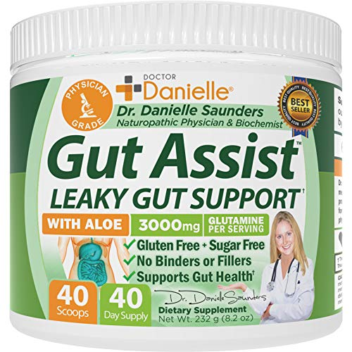 Gut Assist - Leaky Gut Repair Supplement Powder - Glutamine, Arabinogalactan, Licorice Root - Supports IBS, Heartburn, Bloating, Gas, Constipation, SIBO from Doctor Danielle