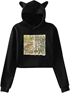 Womans Cat Ear Hoodie Sweater Dance Gavin Dance Instant Gratification Lovely Exposed Navel Sweater