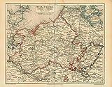 Kunstdruck Mecklenburg Schwerin Preussen 30x24 cm alte