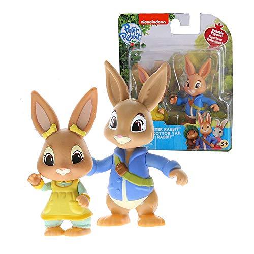 Peter Rabbit Toys Figuren Figuren mit Baumwollschwanz Hase 7 cm Cake Topper Tortendekoration