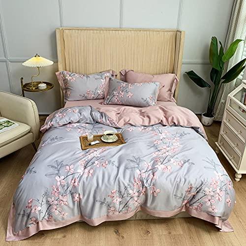 Juegos de sábanas y fundas de almohada,American 60 piezas de impresión digital de doble cara seda de cuatro piezas de seda de cuatro piezas de seda de seda de seda de seda de 2,0 m suministros de cam