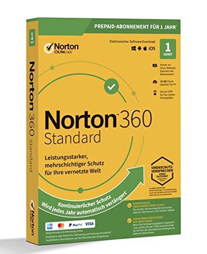 NORTON 360 STANDARD *1-Gerät / 1-Jahr* inkl. 10GB PC/Mac