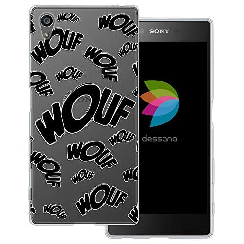 dessana Comic Zeichen transparente Schutzhülle Handy Case Cover Tasche für Sony Xperia Z5 Wouf