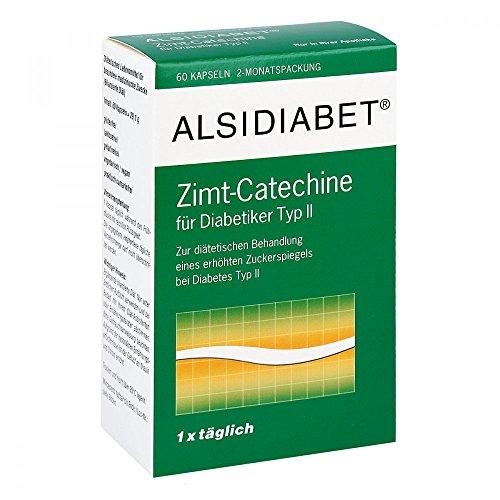 ALSIDIABET Zimt Catechine f.Diab.Typ II Kapseln, 60 St