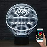 Olanstar 3D Optische Täuschung Nachtlicht Los Angeles Lakers Basketball Dekoration Spielzeug Lampe Telefon Fernbedienung Tischleuchte