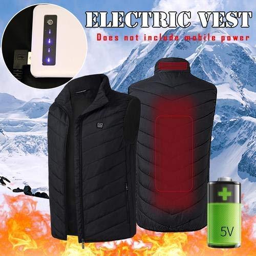 SUNEAGLE Calefacción eléctrica Chaleco Cargador USB, Seguridad Inteligente Chaqueta de Invierno la...
