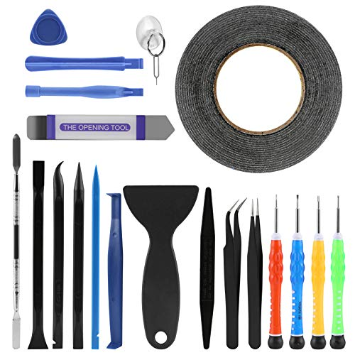 LIHAO 21 in 1 Handy Reparatur Werkzeug Profi Tools Set Schraubendreher Kleber Saugnapf für Smartphone Tablet PC Multimedia