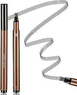 Aaiffey Eyebrow Tattoo Pen Waterproof Microblading Eyebrow Pencil with Micro-Fork Tips Applicator Creates Daily Natural Brows Makeup Long Lasting (Gray Brown)