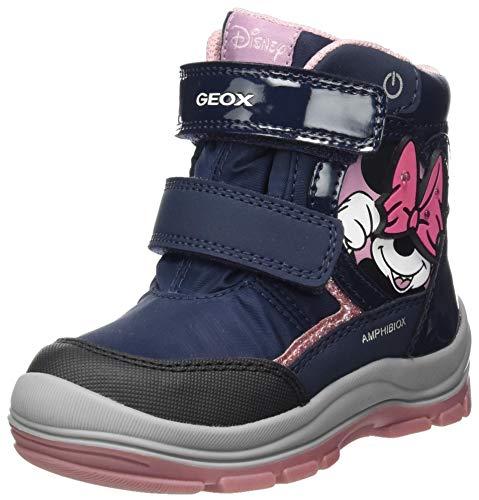 Geox Baby-Mädchen B Flanfil Girl B ABX Snow Boot, Blau (Navy), 22 EU