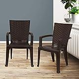 NILKAMAL CHR 2225 Plastic Chair, Weather Brown Set of 2