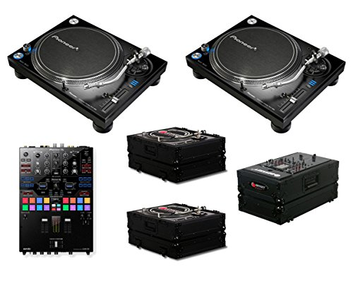 Lowest Prices! 2x Pioneer PLX-1000 + DJM-S9 + Odyssey Black Label Cases
