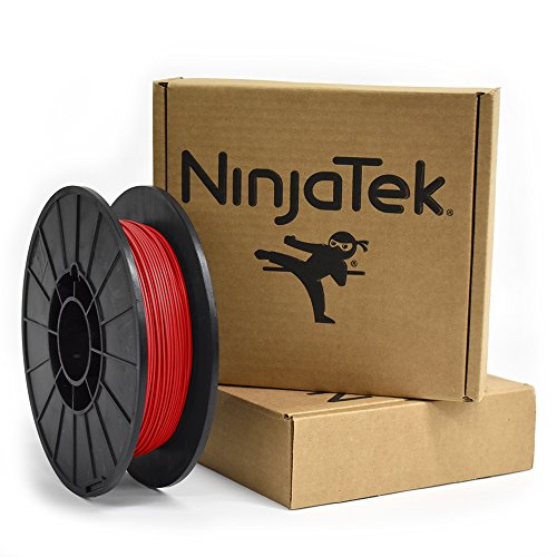 NinjaTek 3DNF03117505 NinjaTek NinjaFlex TPU Filament, 1.75mm, TPE.5kg, Fire (Red) (Pack of 1)