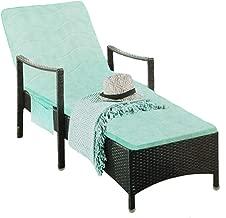 RANRANHOME Indoor/Outdoor Green Chaise Lounge Cushion, Thicken Memory Foam Non-Slip Lounge Chair Cushion, Patio Garden Mattress, 185X49cm