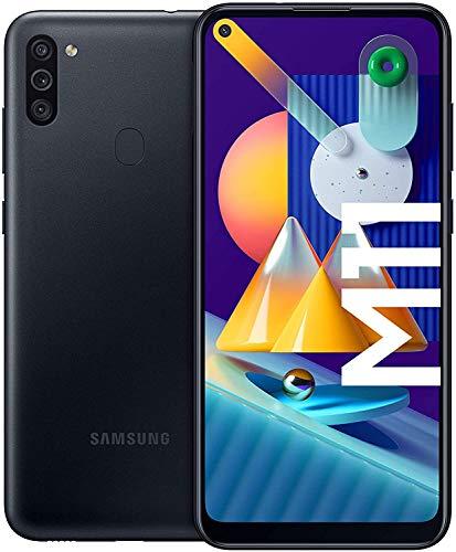 SAMSUNG Galaxy M11 | Smartphone Dual SIM, Pantalla de 6,4'', Cámara 13 MP, 3 GB RAM, 32 GB ROM Ampliables, Batería 5.000 mAh, Android, Color Negro [Versión española]