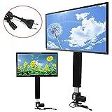 Elektrisch höhenverstellbarer TV Lift YUNRUX Einstellbare TV Lift Halterung TV Ständer Standfuß Flachbildschirme 70 cm Hubläng TV Wandhalterung